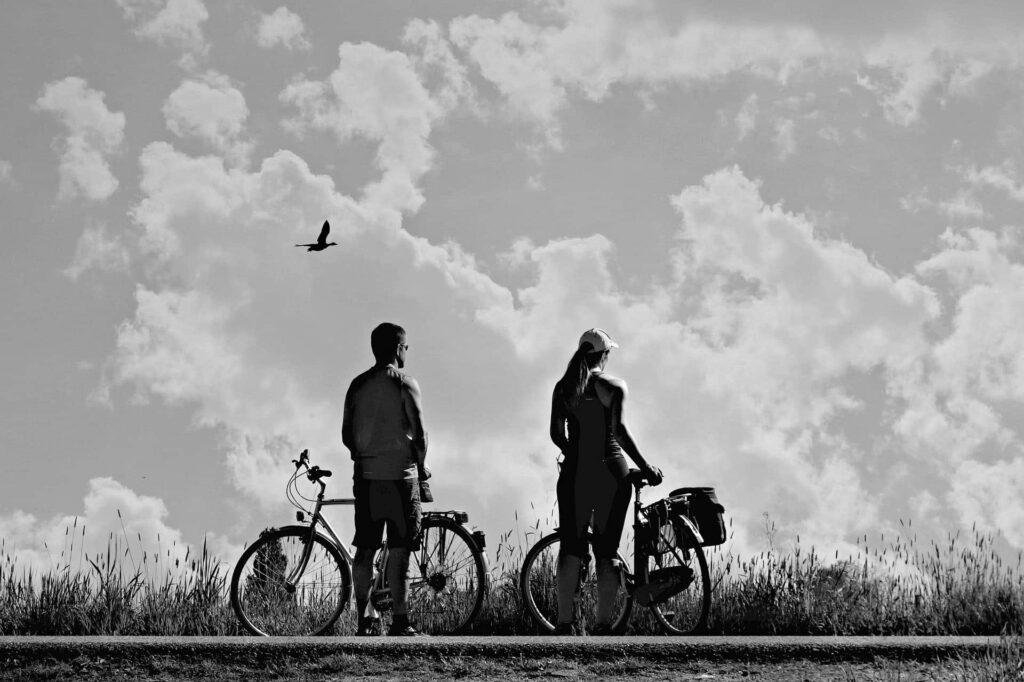 Radtour von zwei Personen